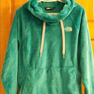 Green North Face hoodie